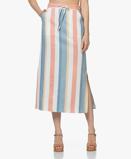 Bilde avBOSS Bastria Striped Midi Skirt Open Miscellaneous