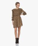 Obrázekba&sh Dress Carbon Sandra Chiffon Printed