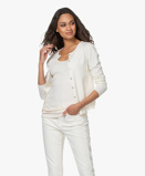 Imagine dinResort Finest Cardigan Lucca Basic Cashmere in Off white