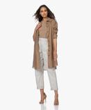 Imagine dinResort Finest Dress Camel Brown Monica Linen Shirt