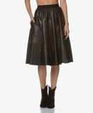 ObrázekDrykorn Skirt Faux Leather Jaloma in Black
