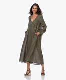 Imagine dinResort Finest Dress Franca Linen A line in Vineyard Green