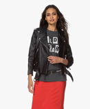 Immagine diAnine Bing Jack Zwart Cropped Leather Moto