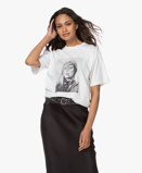 Image deANINE BING Ida Terrry O'Neill T shirt Off white