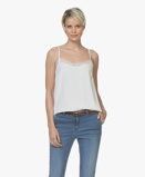 Bilde avBY BAR Camisole Isa Viscose in Off white with Lace