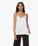 Image deANINE BING Camisole Belle Silk in Ivory with Lace