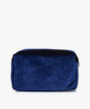 Zdjęcie&Klevering Toiletry Bag Large Velvet in Embroidery Blue