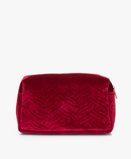 Zdjęcie&Klevering Toiletry Bag Large Velvet in Embroidery Red