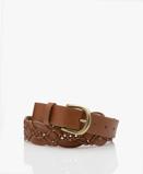 Bilde avby bar Braided Leather Belt Cognac