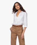 Immagine diBelluna Blouse Afternoon Cropped Sleeve Linen in White