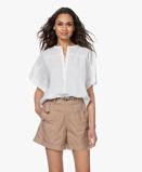 Bilde avby bar Blouse Bo Cotton Short Sleeve in White