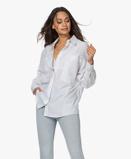 Bilde avIRO Akumal Oversized Pinstripe Blouse White/Grey