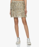 Image of IRO Skirt Ecru Moody Silk Printed Mini
