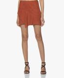 Obrázekba&sh Mala Suede Ruffle Mini Skirt Terracotta