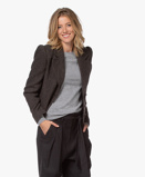 Obrázekba&sh Blazer Klimt Short Wool Blend in Brown