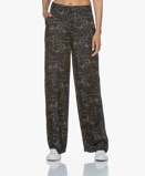 Image of By Malene Birger Pants Wide leg with Print in Black