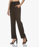 Image of Rag & Bone Lina Pure Silk Pants Black