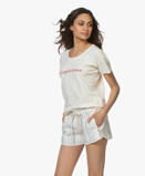 Image of Vanessa Bruno T shirt Cream/Red Ccapricieuse Print