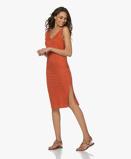 ObrázekMajestic Filatures Dress Terra Linen Jersey V neck