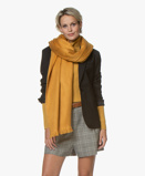 Image ofAlpaca Loca Scarf Ochre Yellow Handmade Uni