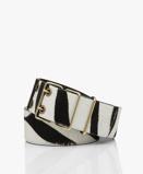 Obrázekba&sh Belt Casie Wide Leather Zebra Print in Black/Off white