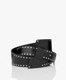 Bilde avIRO Belt Black Samo Studded Leather Waist
