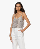 Image deEquipment Camisole Off white Layla Snake Printed Silk