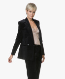 Image of Filippa K Blazer Jacket Katie Cord Onyx Black