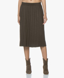 Image of Marie Sixtine Skirt Gaby Fine Knit Pleated in Moss Green