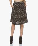 Image of indi & cold Skirt Black Viscose Print A line