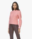 Image of Rag & Bone Sweater Cheryl Short Merino in Pink Melange