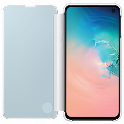 Afbeelding van Samsung Galaxy S10e Clear View flip cover wit