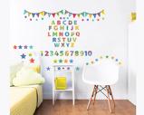 Afbeelding vanABC Alfabet Muursticker set Sticker