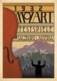 Afbeelding van1932 Mozart Festspiele Salzburg Kunstdruk 42x59.4cm