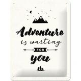 Afbeelding vanAdventure Is Waiting Metalen Wandplaat 15x20cm Metaal