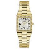 Afbeelding vanGuess GW0026L2 Chateau dameshorloge horloge Goudkleur,Wit,Zwart
