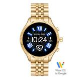 Afbeelding vanMichael Kors MKT5078 Lexington 2 Gen5 Smartwatch dameshorloge horloge Goudkleurig