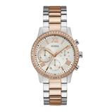 Afbeelding vanGuess W1069L4 Solar horloge dameshorloge Rosekleur,Zilverkleur