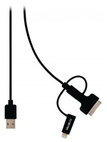 Thumbnail of 3 in 1 Data en Oplaadkabel USB Micro B Male + Dockadapter Lightninga