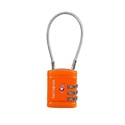 Afbeelding van Samsonite Accessoires Cablelock 3 Dial TSA orange (TSA) kofferslot