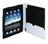 Image of iPad 2 / 3 / 4 Luxe Leder Folio Case mit weißem Notepad 4070 6201