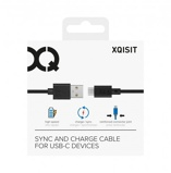 Afbeelding vanXQISIT Charge & Sync USB C 2.0 to A 100cm black