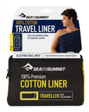 "Bilde av""Sea to Summit Premium Cotton Liner Traveller Navy"""