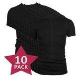 Afbeelding van10 pack Beeren t shirt korte mouw ronde hals Zwart.