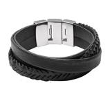Afbeelding vanFossil Armband Vintage Casual zwart 18,5 cm JF02079040