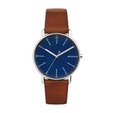 Afbeelding vanSkagen SKW6355 Signatur Big horloge herenhorloge Blauw,Bruin,Zilverkleur