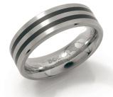 Afbeelding vanBoccia 0129 01 Ring titanium met diamant Maat 66