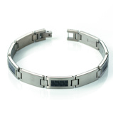 Afbeelding vanBoccia 0333-01 titanium armband met carbon inleg