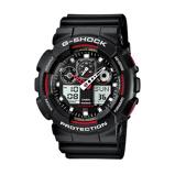 Afbeelding vanCasio G Shock GA 100 1A4ER Classic horloge herenhorloge Rood,Zwart