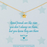 Afbeelding vanHeart to Get Good Friends Are Like Stars Ketting N09STA11G